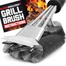 """<p><strong>Alpha Grillers</strong></p><p>amazon.com</p><p><strong>$14.97</strong></p><p><a href=""""https://www.amazon.com/dp/B07KQYWX1T?tag=syn-yahoo-20&ascsubtag=%5Bartid%7C2089.g.36490432%5Bsrc%7Cyahoo-us"""" rel=""""nofollow noopener"""" target=""""_blank"""" data-ylk=""""slk:Shop Now"""" class=""""link rapid-noclick-resp"""">Shop Now</a></p><p>This all-in-one power tool does double duty as a heavy-duty grill brush and scraper, covering three times the surface area of a standard grill brush. Its hefty steel construction can be used to clean virtually any type of grill surface, including porcelain, cast-iron, and stainless steel grates.</p>"""