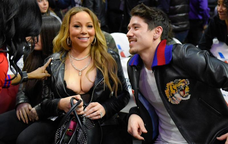 Right by her side was beau Bryan Tanaka, who couldn't help but notice his love's ample cleavage on show as she spectated the Atlanta Hawks versus Los Angeles Clippers game at Staples Center. Source: Getty