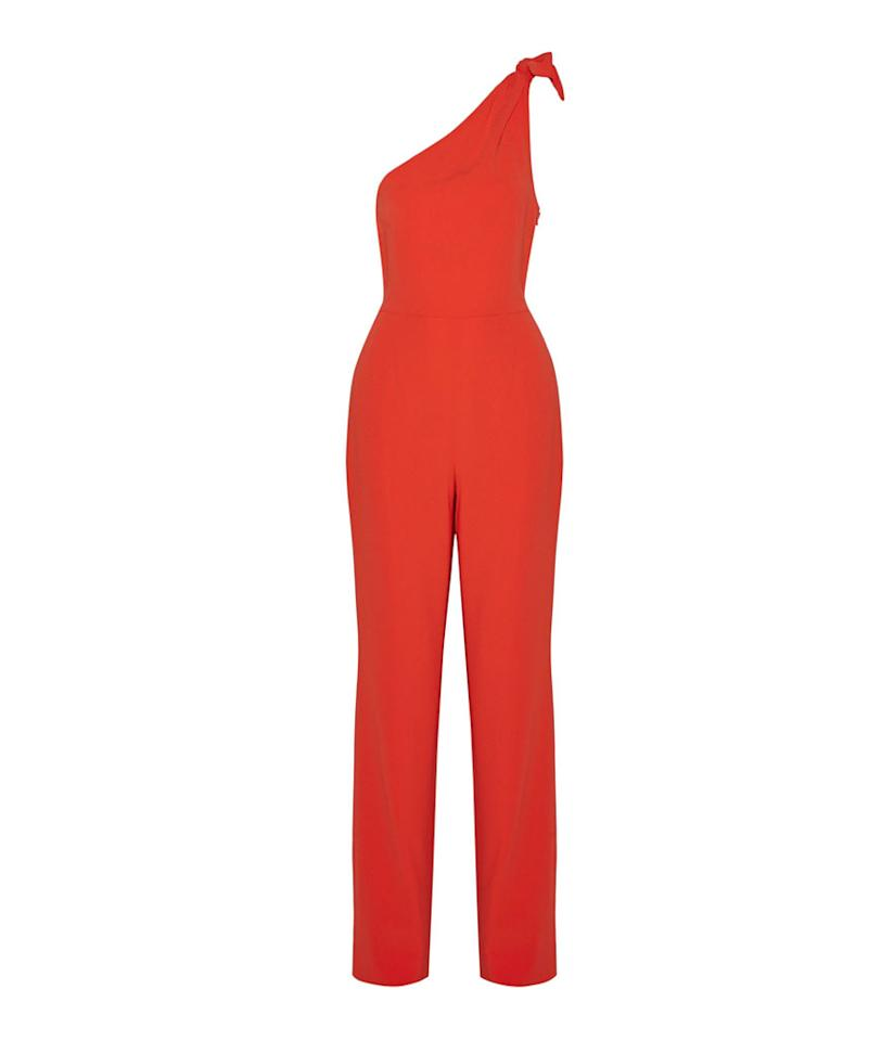 "<p>Knotted One-Shoulder Crepe Jumpsuit, $235, <a rel=""nofollow"" href=""https://www.net-a-porter.com/us/en/product/932375/Diane_von_Furstenberg/knotted-one-shoulder-crepe-jumpsuit"">net-a-porter.com</a> </p>"