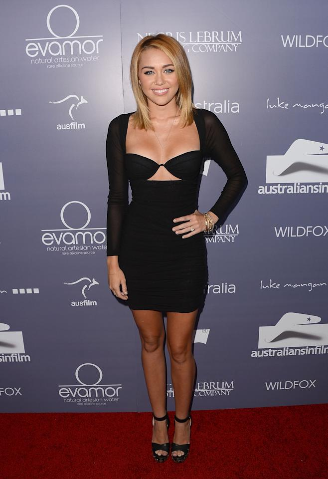 CENTURY CITY, CA - JUNE 27:  Actress Miley Cyrus arrives at Australians In Film Awards & Benefit Dinner at InterContinental Hotel on June 27, 2012 in Century City, California.  (Photo by Jason Merritt/Getty Images for AIF)