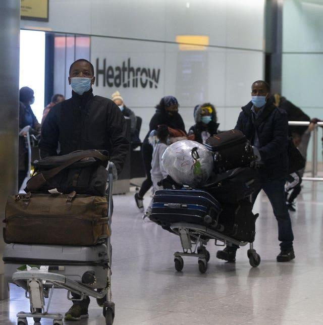 Passengers arriving to England from certain countries from Monday will have to quarantine in hotels (Ian Vogler/Daily Mirror/PA)