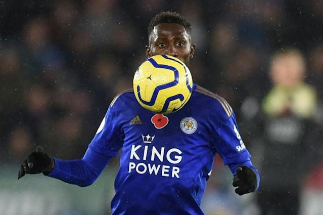 Nigeria midfielder Wilfred Ndidi controls the ball while helping Leicester City defeat Arsenal at the weekend (AFP Photo/Oli SCARFF )