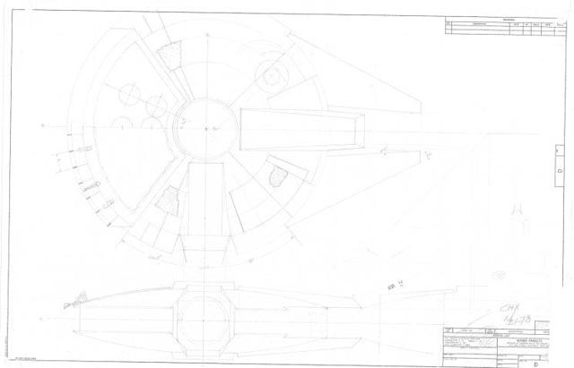 Boudreaux's original design blueprint for the 1978 toy <i>Falcon</i> (Credit: Mark Boudreaux/Hasbro)