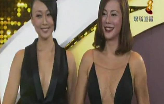 Constance Song raised eyebrows with her Jiki gown that left little to the imagination (Youtube screengrab)