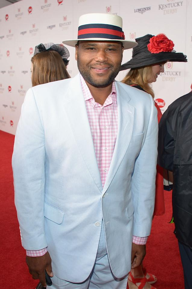 LOUISVILLE, KY - MAY 04: Anthony Anderson at the GREY GOOSE Red Carpet Lounge at the Kentucky Derby at Churchill Downs on May 4, 2013 in Louisville, Kentucky.  (Photo by Theo Wargo/Getty Images for GREY GOOSE)