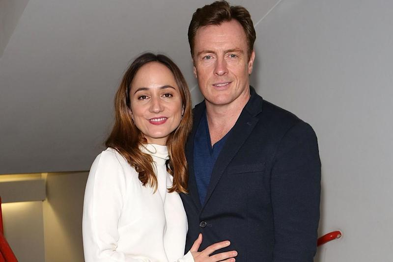 Back on stage: Lydia Leonard and Toby Stephens: Dave Benett