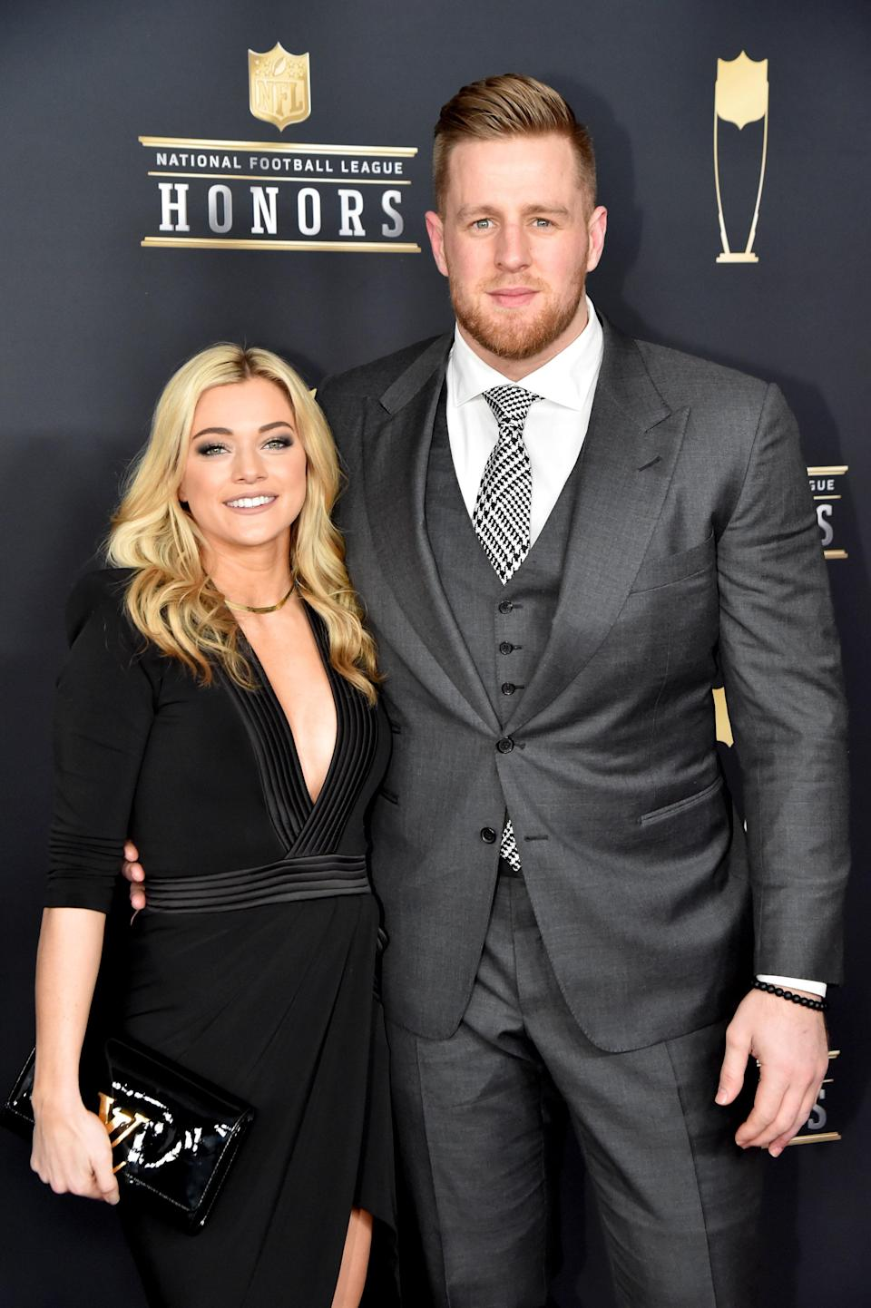 """NFL star (and recent <em>Saturday Night Live</em> host) J.J. Watt married professional soccer player Kealia Ohai in a lavish ceremony in the Bahamas on February 15. Watt <a href=""""https://www.instagram.com/p/B8oRhoLHw7A/"""" rel=""""nofollow noopener"""" target=""""_blank"""" data-ylk=""""slk:shared some of the photos on Instagram"""" class=""""link rapid-noclick-resp"""">shared some of the photos on Instagram</a> with the caption, """"Best day of my life. Without question. ❤️💙."""" The couple dated for years and got engaged in May 2019."""