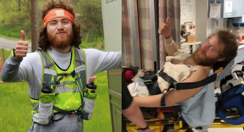 'I Took A Pill in Ibiza' singer Mike Posner was airlifted to hospital in the week after being bitten by a rattlesnake (Mike Posner/Instagram)