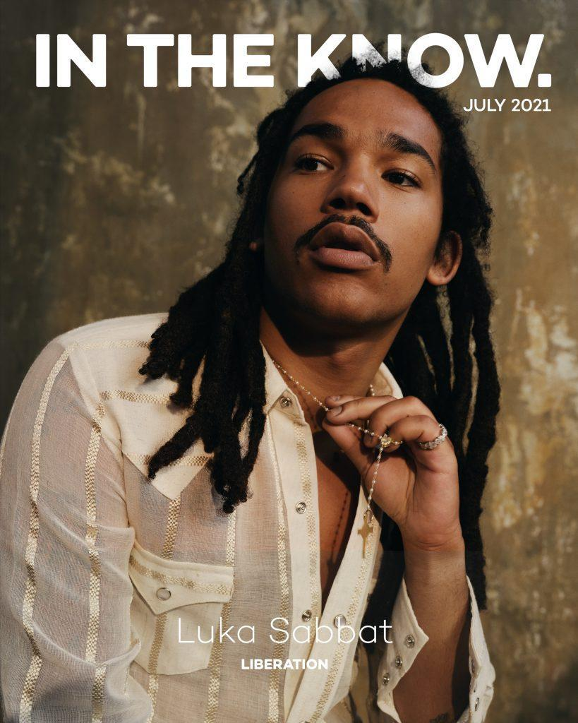 """Luka Sabbat on In The Know's July digital cover. He's wearing a <a href=""""https://fave.co/3rfaw8F"""" rel=""""nofollow noopener"""" target=""""_blank"""" data-ylk=""""slk:Pierre Blanc linen shirt"""" class=""""link rapid-noclick-resp"""">Pierre Blanc linen shirt</a>, Who Decides War pants and Sunni Sunni boots.<br>Photo by <a href=""""https://www.instagram.com/sheekswinsalways/?hl=en"""" rel=""""nofollow noopener"""" target=""""_blank"""" data-ylk=""""slk:Shaniqwa Jarvis"""" class=""""link rapid-noclick-resp"""">Shaniqwa Jarvis</a>"""