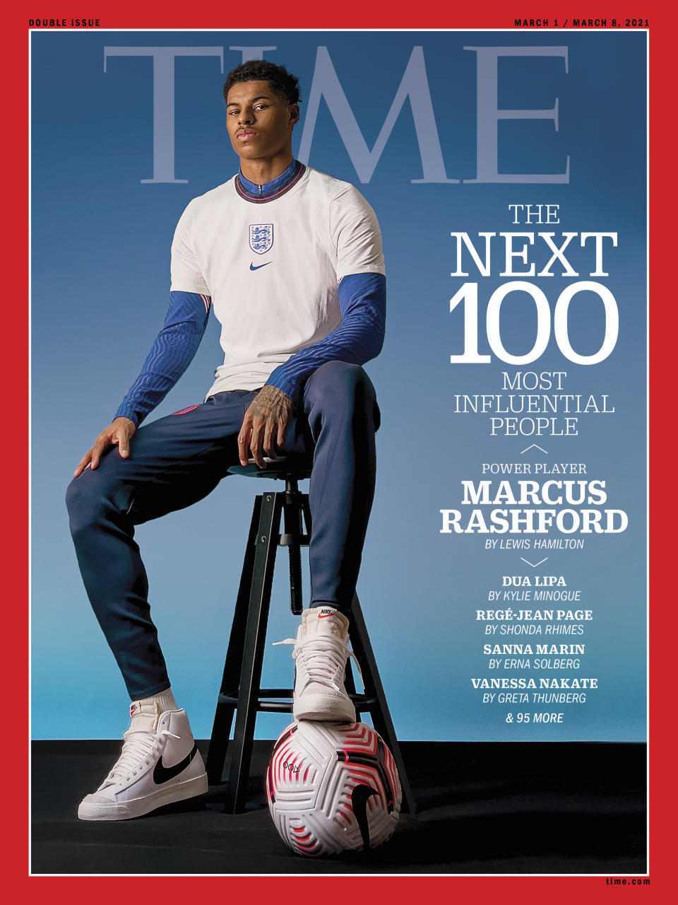TIME100 Next cover Marcus Rashford
