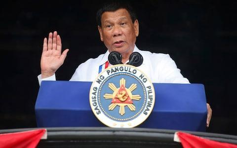 <span>Halili had compared himself to Rodrigo Duterte, as he publicly shared the president's hardline position against crime and illegal drugs</span> <span>Credit: Bullit Marquez/AP </span>