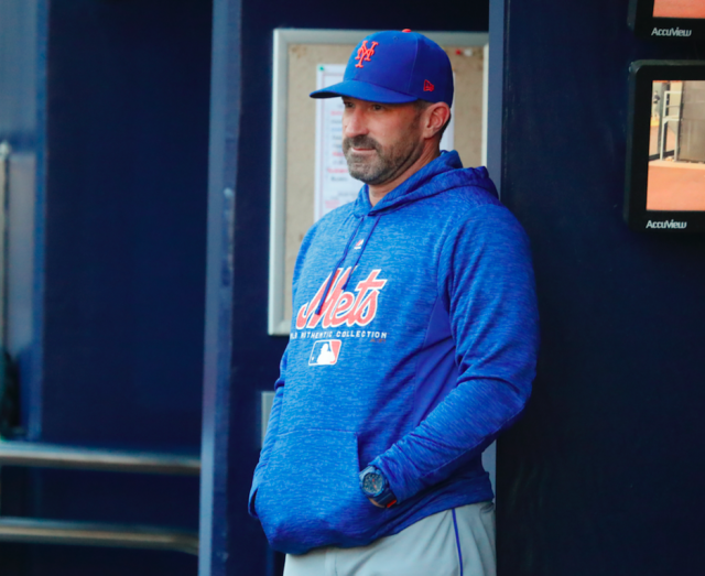 Mets manager Mickey Callaway thinks New York is the reason the Mets are struggling right now. (AP Photo)