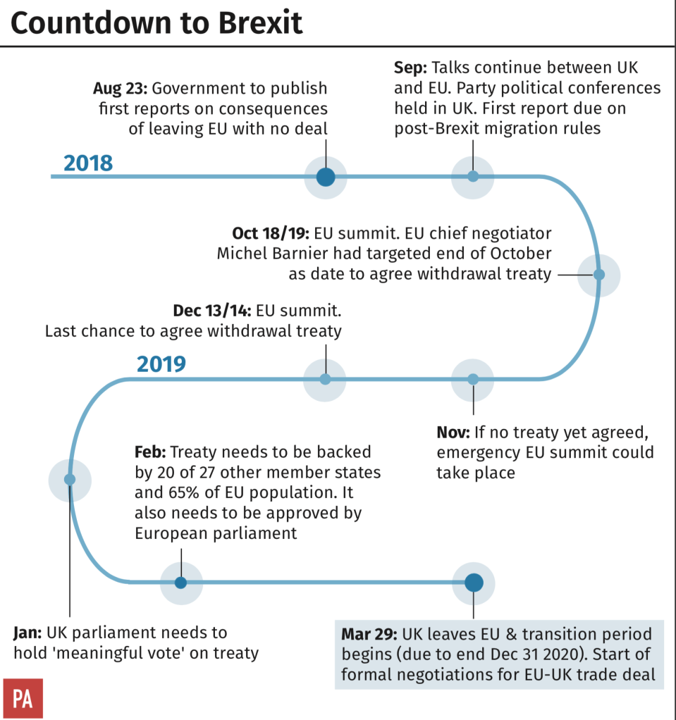 Countdown to Brexit (PA)