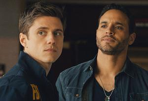 Aaron Tveit, Daniel Sunjata | Photo Credits: USA Network.