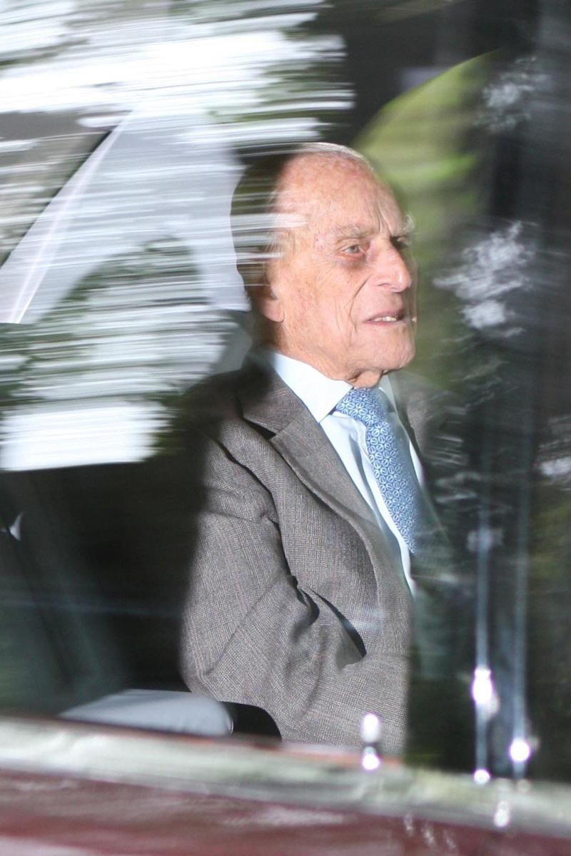 Prince Philip heading to church this morning in Balmoral (Rex Features)
