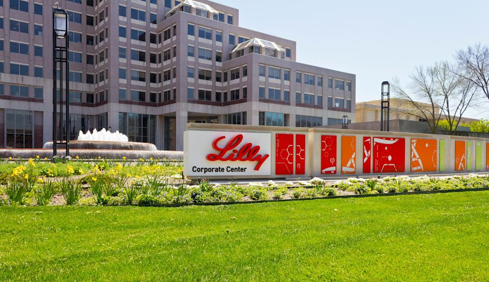 In this stock photo, the exterior of the world headquarters of Eli Lilly and Company is seen in Indianapolis, Ind., April 16, 2016. (Photo: jetcityimage via Getty Images)