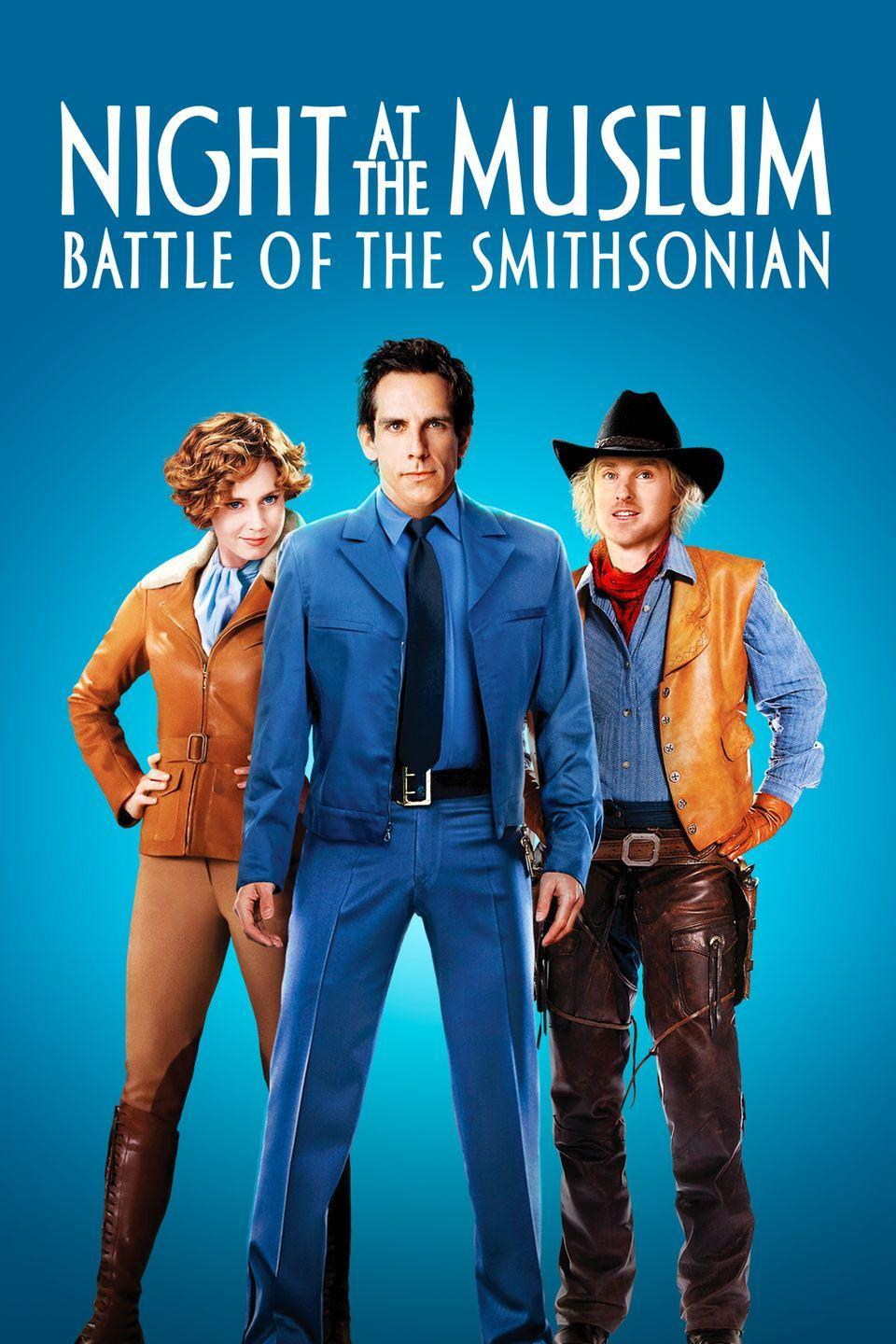 """<p>Make it a double feature, and watch <em>Night at the Museum: Battle of the Smithsonian</em>. Like the first film, it features several American historical figures. In this sequel, Ben Stiller's character goes to the Smithsonian in Washington D.C., in hopes of rescuing his friends who have been sent there by mistake. </p><p><a class=""""link rapid-noclick-resp"""" href=""""https://www.amazon.com/Night-at-Museum-Battle-Smithsonian/dp/B002QREA56/ref=sr_1_1?tag=syn-yahoo-20&ascsubtag=%5Bartid%7C10070.g.36156094%5Bsrc%7Cyahoo-us"""" rel=""""nofollow noopener"""" target=""""_blank"""" data-ylk=""""slk:STREAM NOW"""">STREAM NOW</a></p>"""