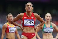 """U.S. hurdler <a href=""""http://yhoo.it/Nyu1gT"""" rel=""""nofollow noopener"""" target=""""_blank"""" data-ylk=""""slk:Lolo Jones"""" class=""""link rapid-noclick-resp"""">Lolo Jones</a> is of French, African-American, Native American and Norwegian descent. (Photo by Streeter Lecka/Getty Images)"""
