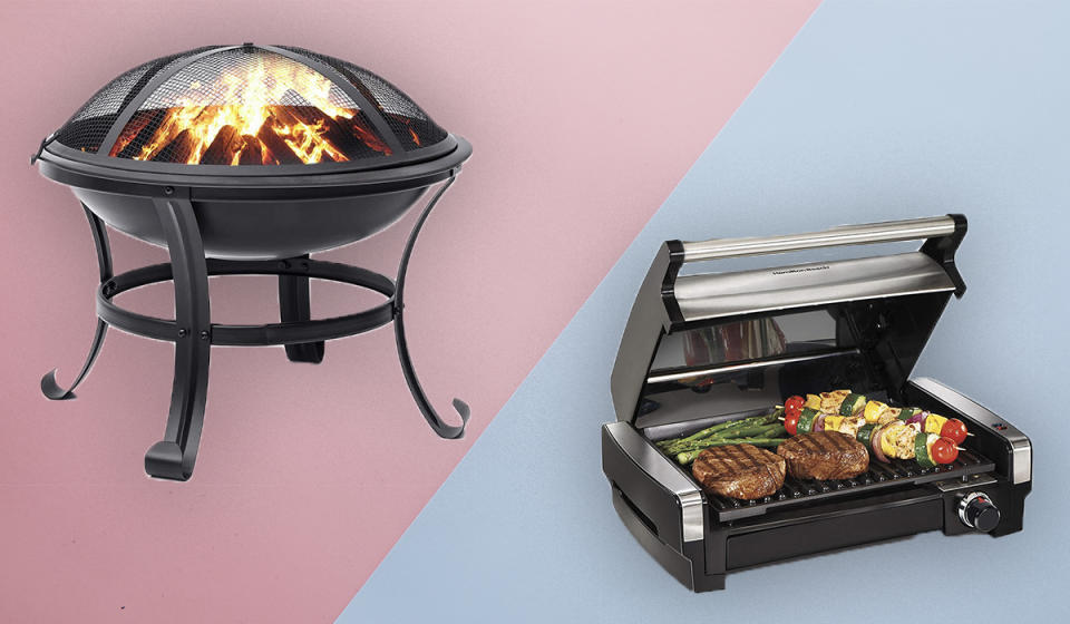 Save big on grills, fire pit s and more. (Photo: Amazon)