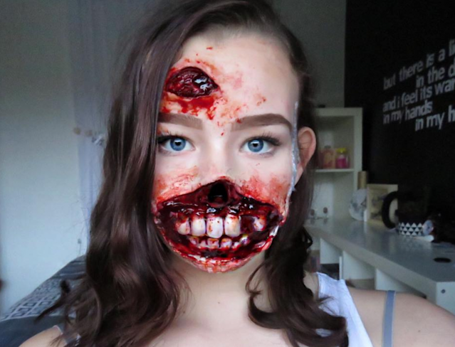 Gemma Borkowski, 13, could fool anyone with the realism of her gory appearance. The teen's talent is that of an experienced makeup artist. (Photo: Instagram/gemmabks.sfx)