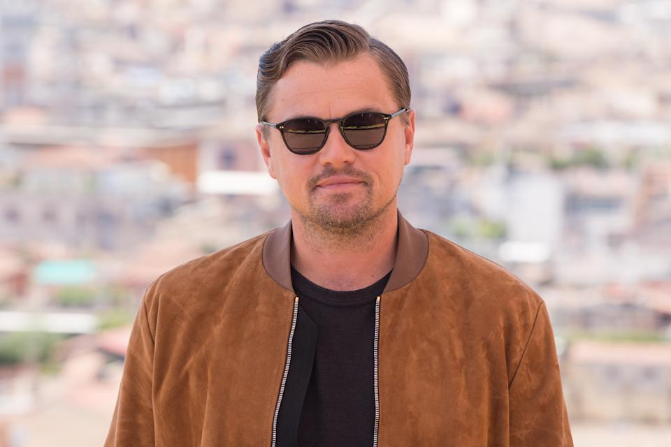 """HOTEL DE LA VILLE, ROME, ITALY - 2019/08/03: Leonardo Di Caprio during the photocall of film """"Once Upon a Time in Hollywood"""". (Photo by Matteo Nardone/Pacific Press/LightRocket via Getty Images)"""