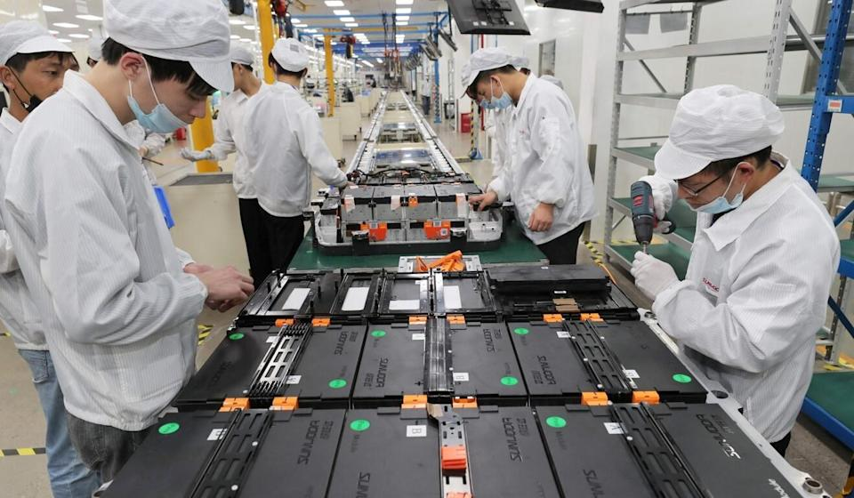 """In its latest five-year plan, Beijing says it will keep manufacturing's share of GDP """"basically stable"""". Photo: AFP"""