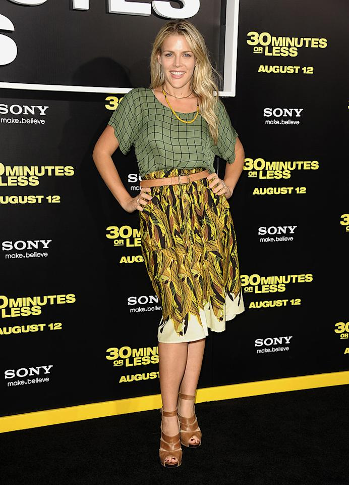 """<a href=""""http://movies.yahoo.com/movie/contributor/1800355565"""">Busy Phillips</a> at the Los Angeles premiere of <a href=""""http://movies.yahoo.com/movie/1810160427/info"""">30 Minutes or Less</a> on August 8, 2011."""