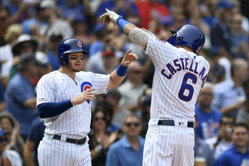 Castellanos homers twice, Cubs cruise past Brewers 7-1