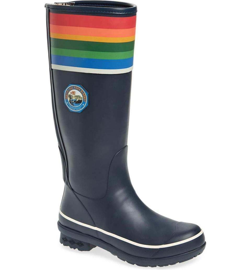 <p>These <span>Pendleton Crater Lake National Park Tall Rain Boots</span> ($113, originally $150) are so fun and whimsical.</p>