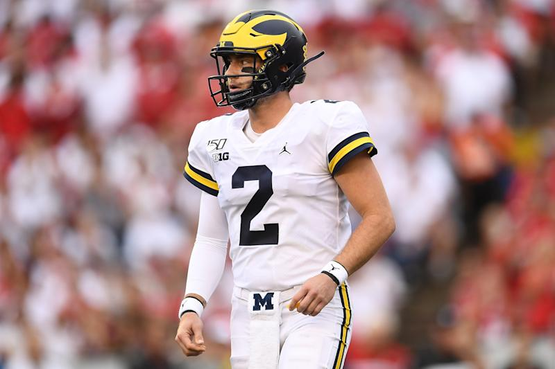 It was another tough game for Shea Patterson and the Michigan offense. (Getty Images)