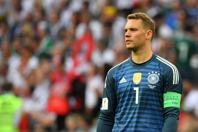 Germany's goalkeeper and captain Manuel Neuer