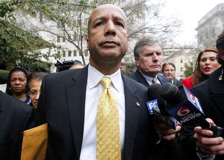 Former New Orleans Mayor C. Ray Nagin leaves the courthouse in New Orleans