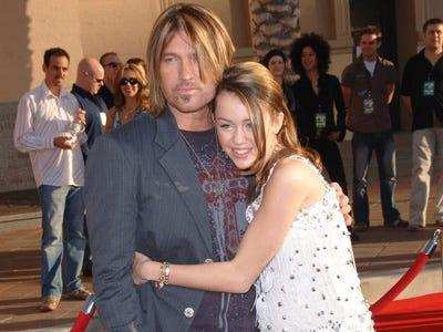 Billy and Miley Cyrus