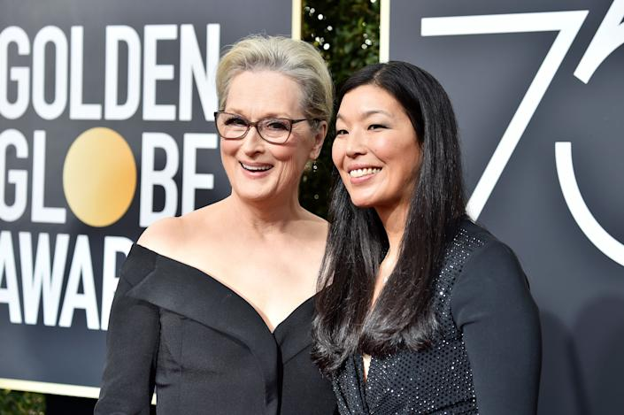 Meryl Streep and Ai-jen Poo.  (Photo: Frazer Harrison via Getty Images)