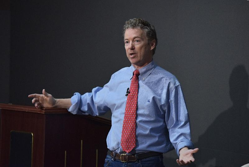 Rand Paul, a conservative libertarian and precursor of the Tea Party branch of his party, is likely to become the second major Republican to join the 2016 presidential race when he announces his candidacy on Tuesday (AFP Photo/Mandel Ngan)