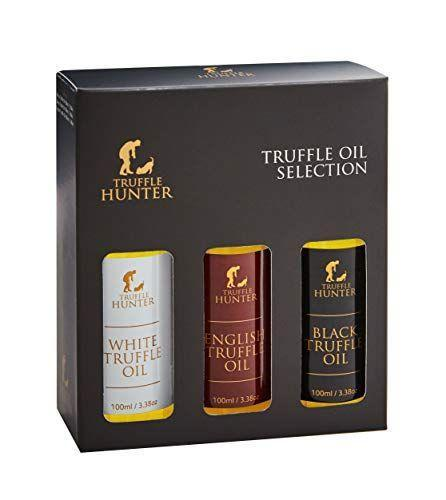 """<p><strong>TruffleHunter</strong></p><p>amazon.com</p><p><strong>$34.95</strong></p><p><a href=""""https://www.amazon.com/dp/B009HRQ47U?tag=syn-yahoo-20&ascsubtag=%5Bartid%7C10055.g.29369141%5Bsrc%7Cyahoo-us"""" rel=""""nofollow noopener"""" target=""""_blank"""" data-ylk=""""slk:Shop Now"""" class=""""link rapid-noclick-resp"""">Shop Now</a></p><p>A drizzle of truffle oil instantly elevates pasta, pizza, or basic french fries. This set gives him three different varieties to switch between, depending on if he wants something garlicky (white truffle oil), earthy (black truffle oil), or nutty (English truffle oil). </p>"""