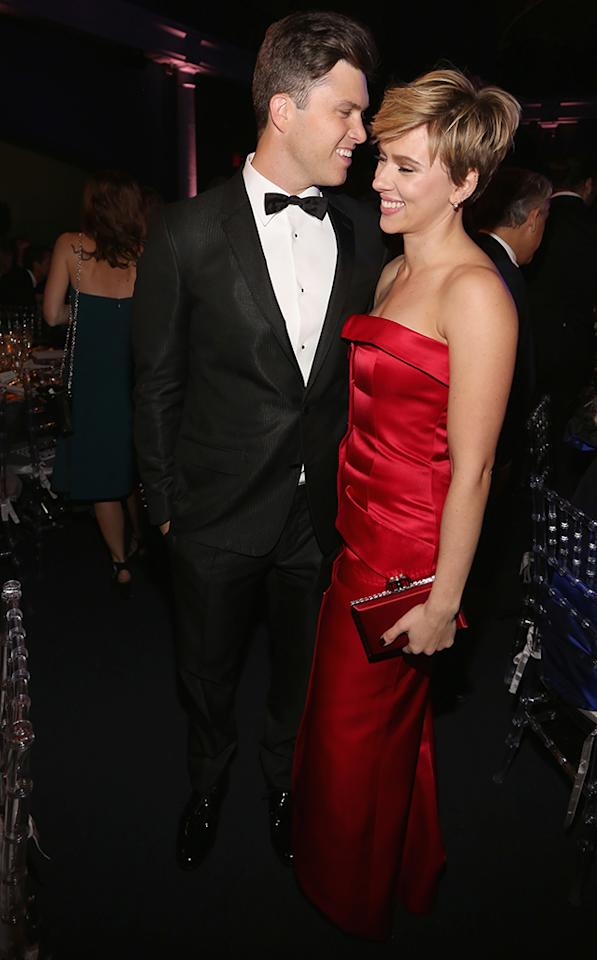 <p>They're out! The low-key couple made their public debut on Thursday at the 2017 Museum Gala at the American Museum of Natural History in NYC. Although the actress and the <em>SNL</em> star, who have quietly been dating for nine months, didn't go as far as walking the red carpet together, they did take a minute to pose for photographers inside the event. (Photo: Sylvain Gaboury/Patrick McMullan via Getty Images) </p>