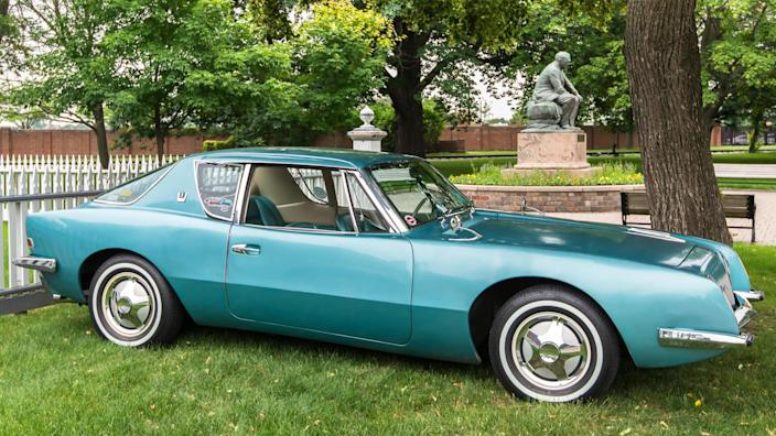 DEARBORN, MI/USA - JUNE 20, 2015: A 1962 Studebaker Avanti car at The Henry Ford (THF) Motor Muster, held at Greenfield Village.