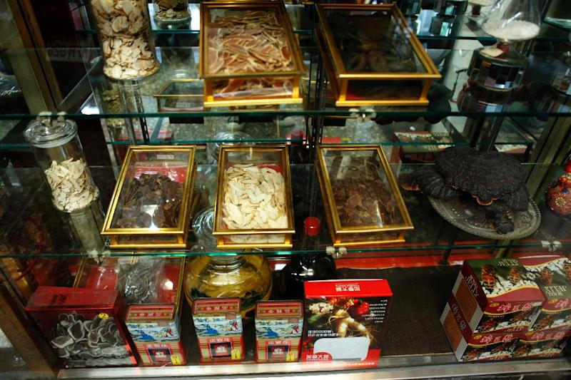 The average store might stock between 200 and 500 herbs, roots, animal parts and minerals (AFP Photo/HSU Tsun-hsu)
