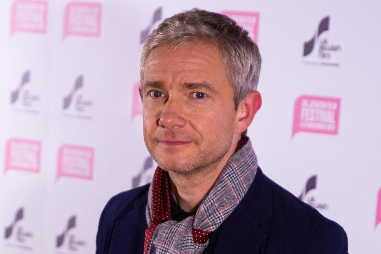 Martin Freeman attends The Operative UK premiere at Picturehouse Central on November 14, 2019 in London, England. (Photo by Robin Pope / SIPA USA)