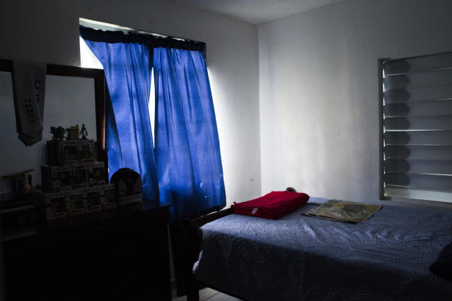 The empty room of Jeancarlo Ruiz Núñez's younger brother, Jan Miguel, at their home in Lares. (Erika P. Rodriguez for HuffPost)
