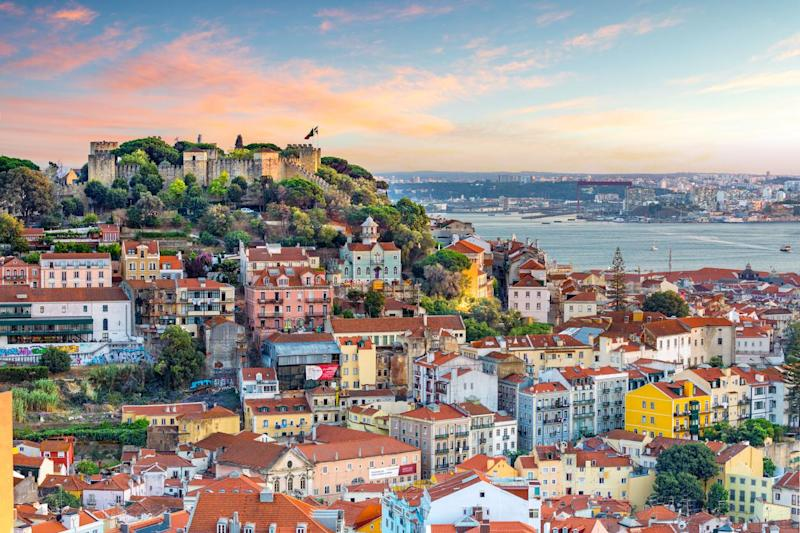 Soak in the Lisbon skyline at Sao Jorge Castle from afar: Getty Images/iStockphoto