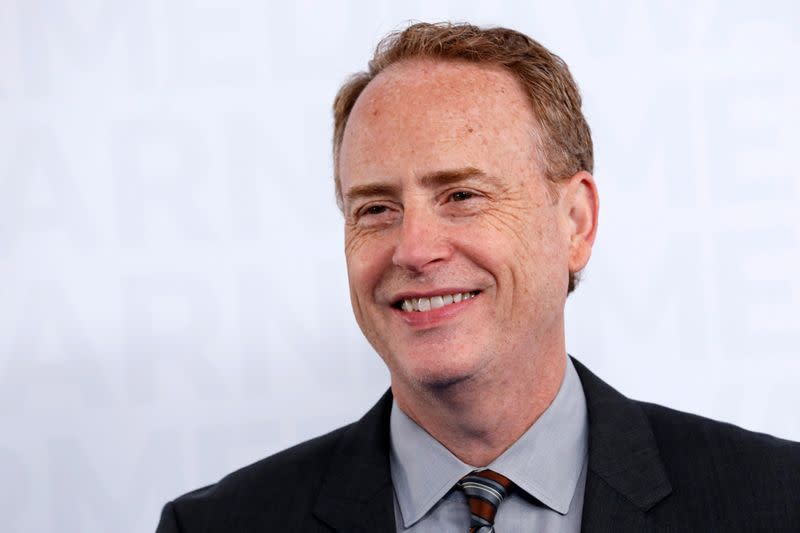 FILE PHOTO: Bob Greenblatt, Chairman of WarnerMedia Entertainment poses as he arrives at the WarnerMedia Upfront event in New York