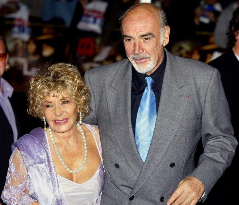 Micheline Roquebrune, pictured here in 2003 with her husband, said Connery wanted to 'slip away without any fuss.'
