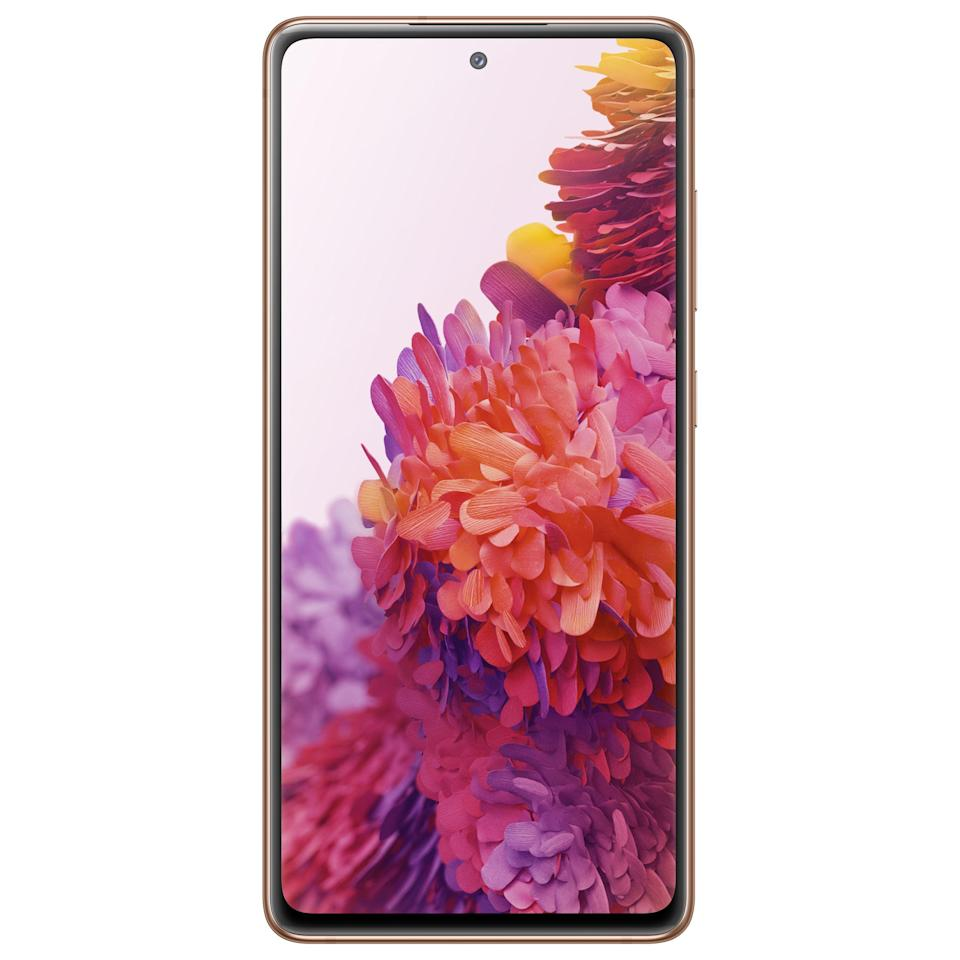"<p><strong>Samsung</strong></p><p>amazon.com</p><p><strong>$599.99</strong></p><p><a href=""https://www.amazon.com/dp/B08FYTRF6J?tag=syn-yahoo-20&ascsubtag=%5Bartid%7C2089.g.158%5Bsrc%7Cyahoo-us"" rel=""nofollow noopener"" target=""_blank"" data-ylk=""slk:Shop Now"" class=""link rapid-noclick-resp"">Shop Now</a></p><p>The Samsung Galaxy S20 FE (Fan Edition) is packed with top-tier specs at an incredibly agreeable price point. It's available in six captivating colors that begin with a ""cloud"" moniker: navy, orange, lavender, mint, red, and white.<br></p><p>Compared to the pricier Samsung Galaxy S20, Galaxy S20+, and Galaxy S20 Ultra, the Galaxy S20 FE has a polycarbonate body, less RAM, and a flat Super AMOLED display with a lower resolution. The rest of the device's specs are similar, making the smartphone not only our pick in the Samsung Galaxy range, but also an instant contender for the best Android phone out there. </p><p>I tip my hat to Samsung for equipping a smartphone this affordable with a 120 Hz display. The high refresh rate makes every interaction a memorable one. It also ensures that the phone will be an amazing mobile gaming rig. </p><p>Like every Galaxy S20, the FE packs a powerful chipset, a sophisticated camera setup, built-in stereo speakers tuned by AKG, expandable memory, and support for fast wired and wireless charging, as well as reverse wireless charging.</p><p><strong>Chipset:</strong> Qualcomm Snapdragon 865<strong><br>Display:</strong> 6.5-inch FHD+ Super AMOLED display with 120 Hz maximum refresh rate and HDR10+ compatibility<strong><br>Camera:</strong> Triple camera with 12MP main, 8MP telephoto, 12MP ultra wide; 32MP selfie camera<strong><br>Memory:</strong> 6/8GB of RAM, up to 256GB of expandable storage<strong><br>Battery:</strong> 4,500 mAh, fast wired and wireless charging, reverse wireless charging<strong><br>Other: </strong>Wi-Fi 6 compatibility, built-in stereo speakers, waterproof body</p><p><strong>More:</strong> <a href=""https://www.bestproducts.com/tech/gadgets/g401/best-new-android-smartphones/"" rel=""nofollow noopener"" target=""_blank"" data-ylk=""slk:The Coolest Android Smartphones on the Market"" class=""link rapid-noclick-resp"">The Coolest Android Smartphones on the Market</a></p>"