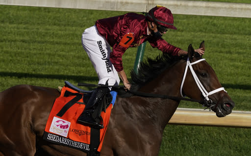 Filly Swiss Skydiver to run against males in Preakness