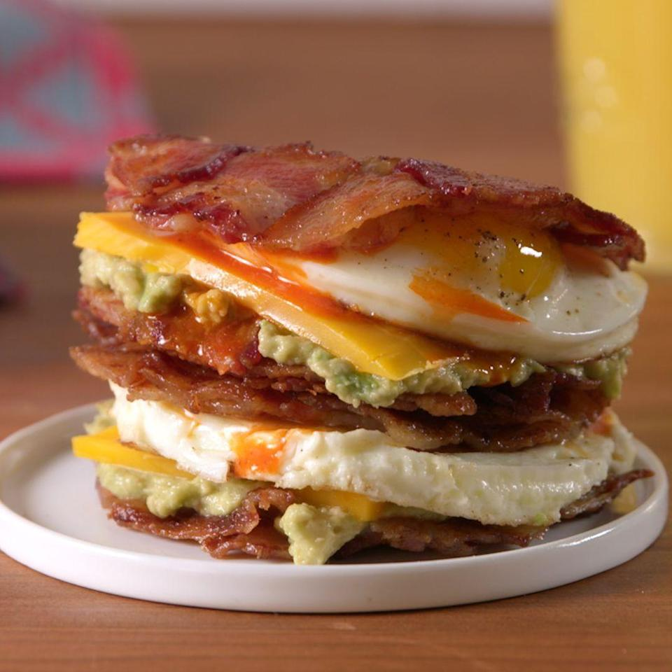 <p>Bacon >>> bread.</p><p>Get the recipe from <span>Delish</span>.</p>