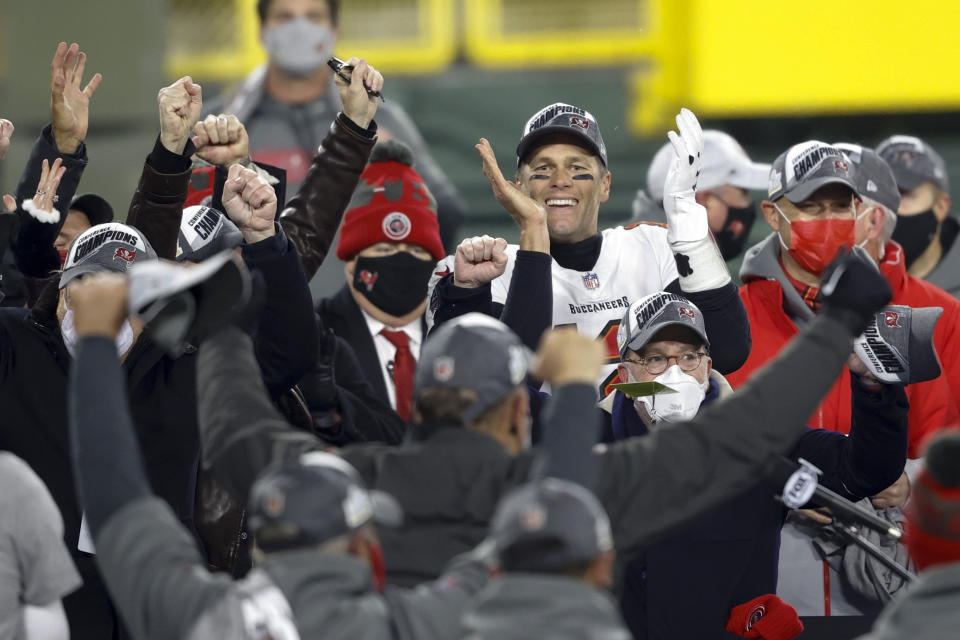The Bucs went all-in on Tom Brady this season and were rewarded with a trip to Super Bowl LV. (AP Foto/Jeffrey Phelps)