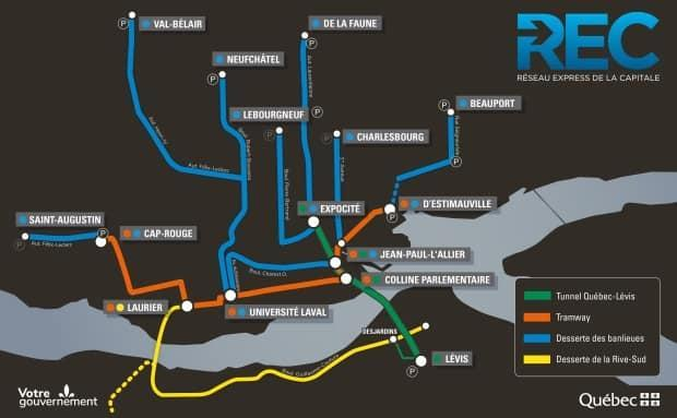 The tunnel is part of a larger plan to improve the transit network in Quebec City over 10 years. (Quebec government - image credit)