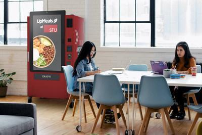 Rendering of UpMeals SmartVending solution at SFU campus (CNW Group/UpMeals)